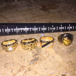 Other - Plated Rings Lot of 4 Size 10